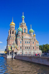 Church of the Savior on Spilled Blood (Cathedral of the Resurrection of Christ) in Saint Petersburg, Russia