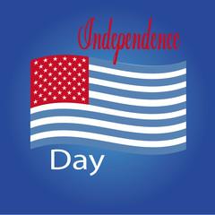 independence day illustration over blue color background