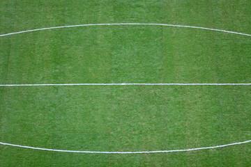 Green football (soccer) field