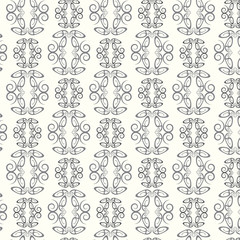 Seamless pattern lines curve monochrome vector background