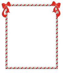 Christmas Candycane Frame