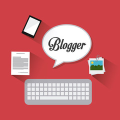 Blogger digital design.