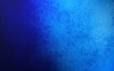 old vintage blue background with black side shadow, elegant antique texture that is worn and stained, rough distressed grunge texture design