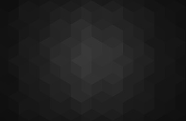 Abstract black background - Cube shapes