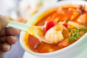 Tom Yam Seafood.