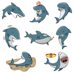 Shark Character set collection