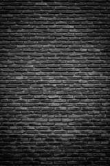 Monochrome brick wall texture, background