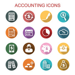 accounting long shadow icons