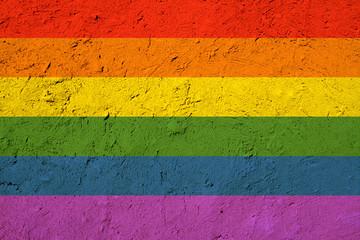 Grunge gay pride flag texture