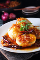 Egg with Tamarind sweet Sauce