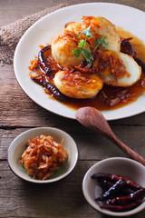 Egg with Tamarind sweet Sauce