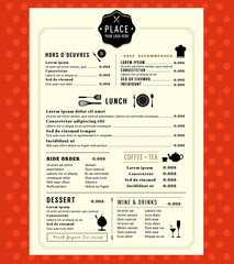 Menu Design with logo Restaurant Cafe shop Graphic Template
