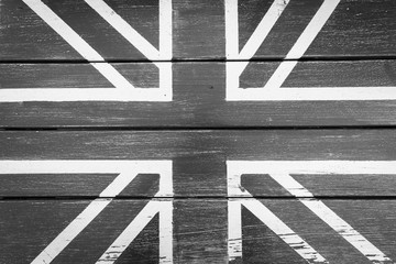 Britain flag on chair texture. Black and White