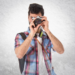 Tourist making a photo