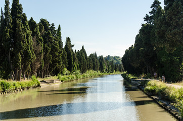 Canal du midi in Beziers