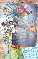 Graffiti,collage and esoteric scrapbooks series