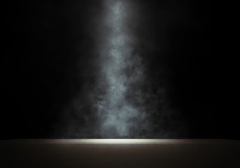 Photo sur Plexiglas Lumiere, Ombre Stage with a smoky spotlight