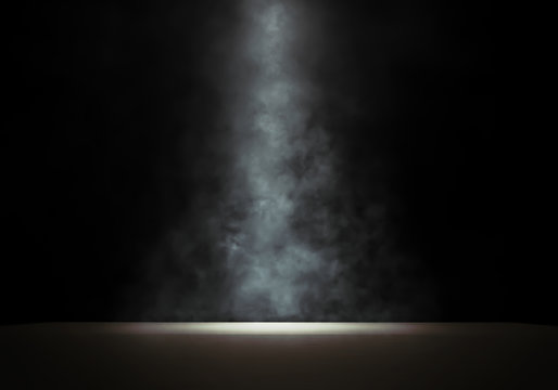 Stage with a smoky spotlight