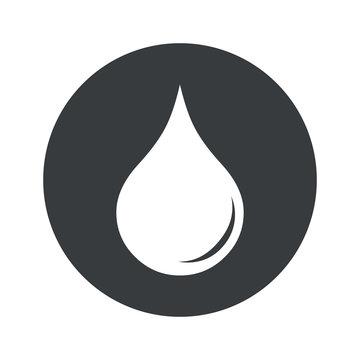 Monochrome round water drop icon