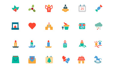 Christmas Colored Vector Icons 3
