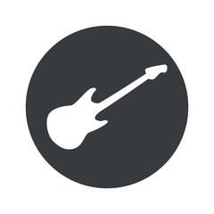 Monochrome round guitar icon