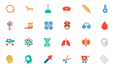 Medical Colored Vector Icons 2