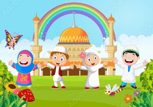 Koleksi 64  Gambar Animasi Anak Tk Muslim HD Gratis