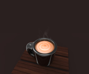 Cup of coffee in 3D