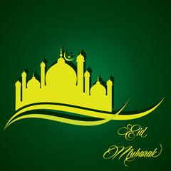Creative Eid greeting vector illustration