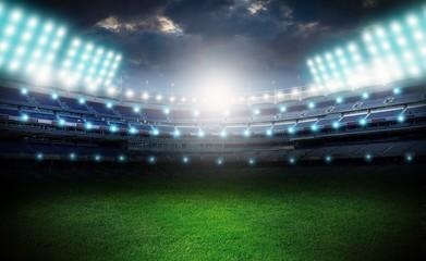 Stadium, soccer, field.