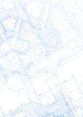 architecture blueprint - house plans / vector illustration