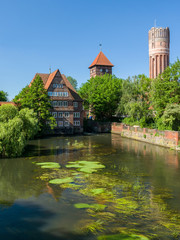 Wasserturm und andere historische Bauwerke in Lüneburg