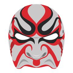 Vector kabuki mask , Japanese culture.