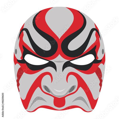 """Vector kabuki mask , Japanese culture."" Stock image and ..."