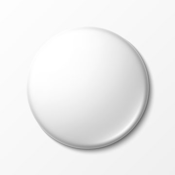 Blank white badge with place for your design
