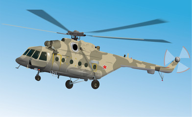 Russian military helicopter MI17