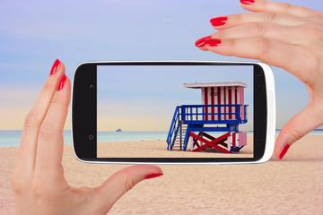 Miami beach snapshot.