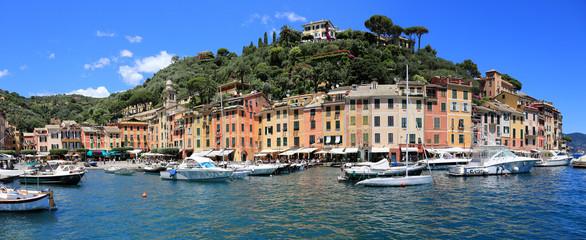 Panorama of Portofino, Italy