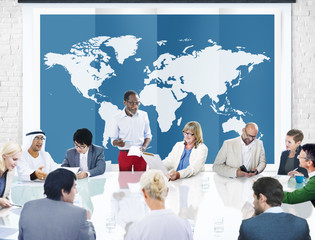 World Global Business Cartography Globalization International Co