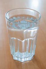 Full glass of water glass