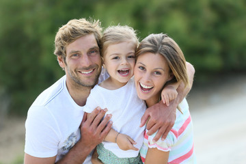 Portrait of happy family having fun together