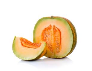 Thai cantaloupe melon isolate on white background