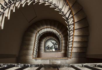 Foto op Plexiglas Trappen ground floor and stairs