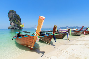long tails boat at Poda Island