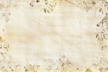 Blumenpapier beige