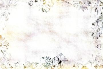 Briefpapier mit hand gezeichneten aquarell Blumen auf Hintergrund mit Wasserfarben