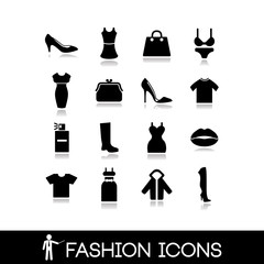 Fashion icons - Clothes vector set 4