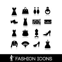 Fashion icons - Clothes vector set 8