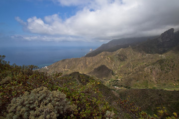 Mountains and ocean on spain Tenerife