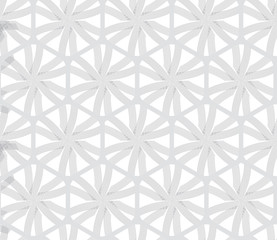Repeating ornament gray hexagon net with lines